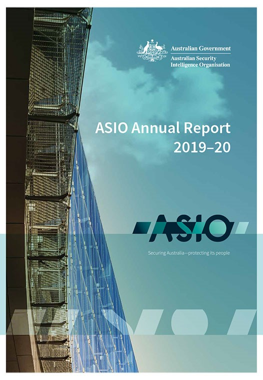 ASIO Annual Report 2019-20 Cover