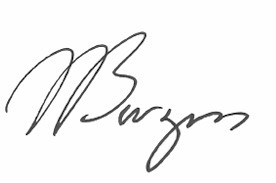 Image of Mike Burgess signature